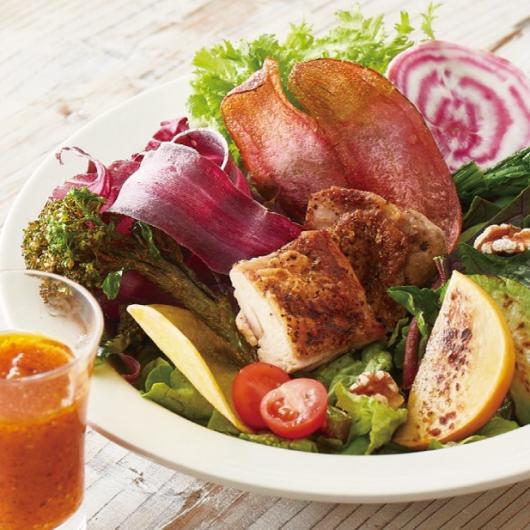 【もしもツアーズで紹介!】10種のこだわり野菜とハーブチキングリルの農園サラダプレート【10周年限定】
