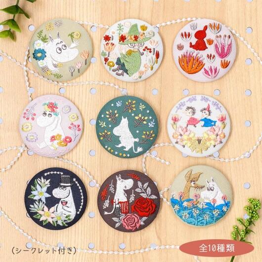 新商品 ムーミン刺繍ブローチコレクション Flower