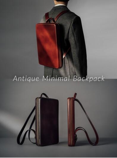 """超薄型のシームレスな新作バッグ """"Antique Minimal Backpack"""""""