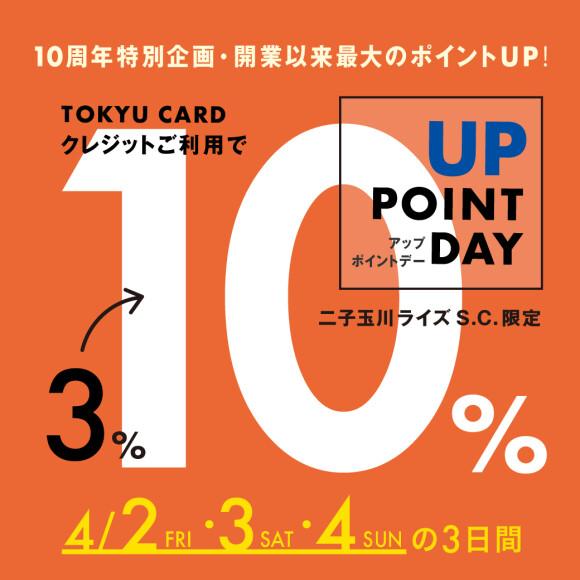 【4月2日~4日】10%アップポイントデー!
