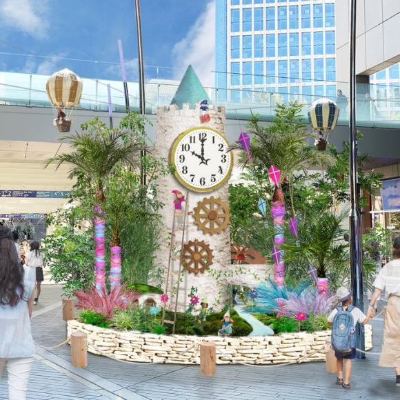 環境装飾『時 ~みんなの時計台~』